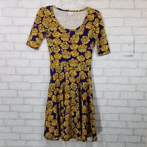 Lularoe Amelia  floral print dress size XS